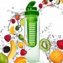 Ūdens pudele sportam FruitInfusior Green 700 ml