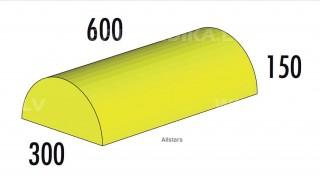 Pussrullis  600x 300 x 150 mm