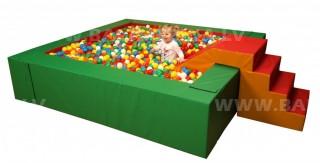 Kvadrātveida bumbu baseins 225x225x50cm