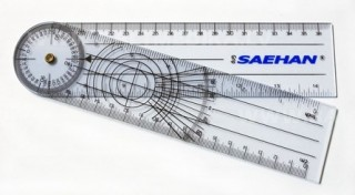 Plastmasas goniometrs 20 cm - SH5205  (2 mm biezi)
